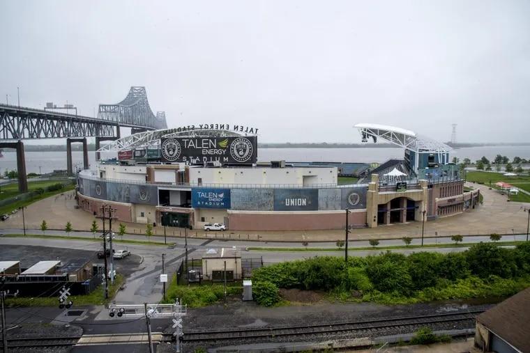 An aerial view of Talen Energy Stadium, the Philadelphia Union's home.