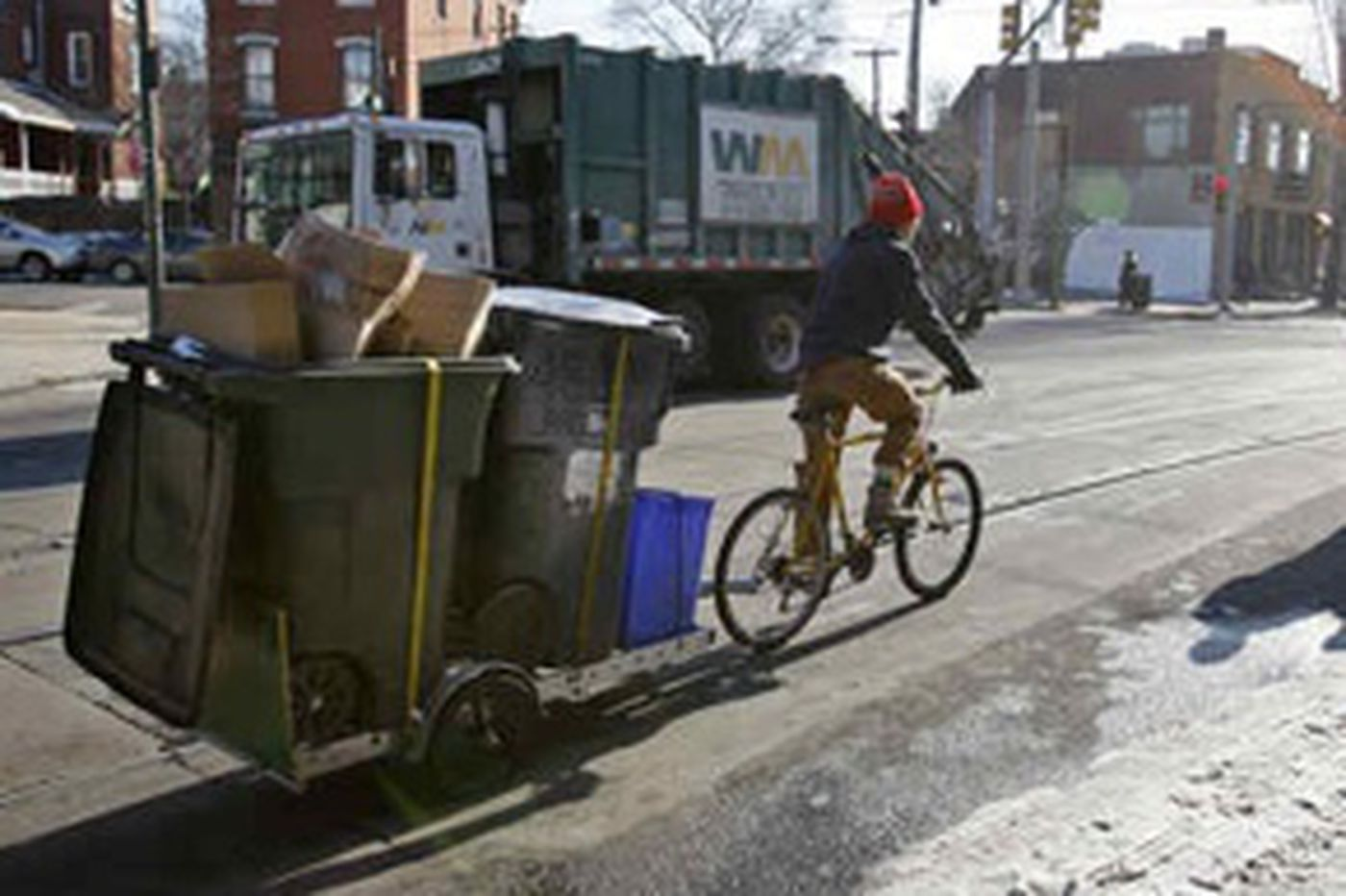 Pedal Co-Op hauls recyclables by bicycle