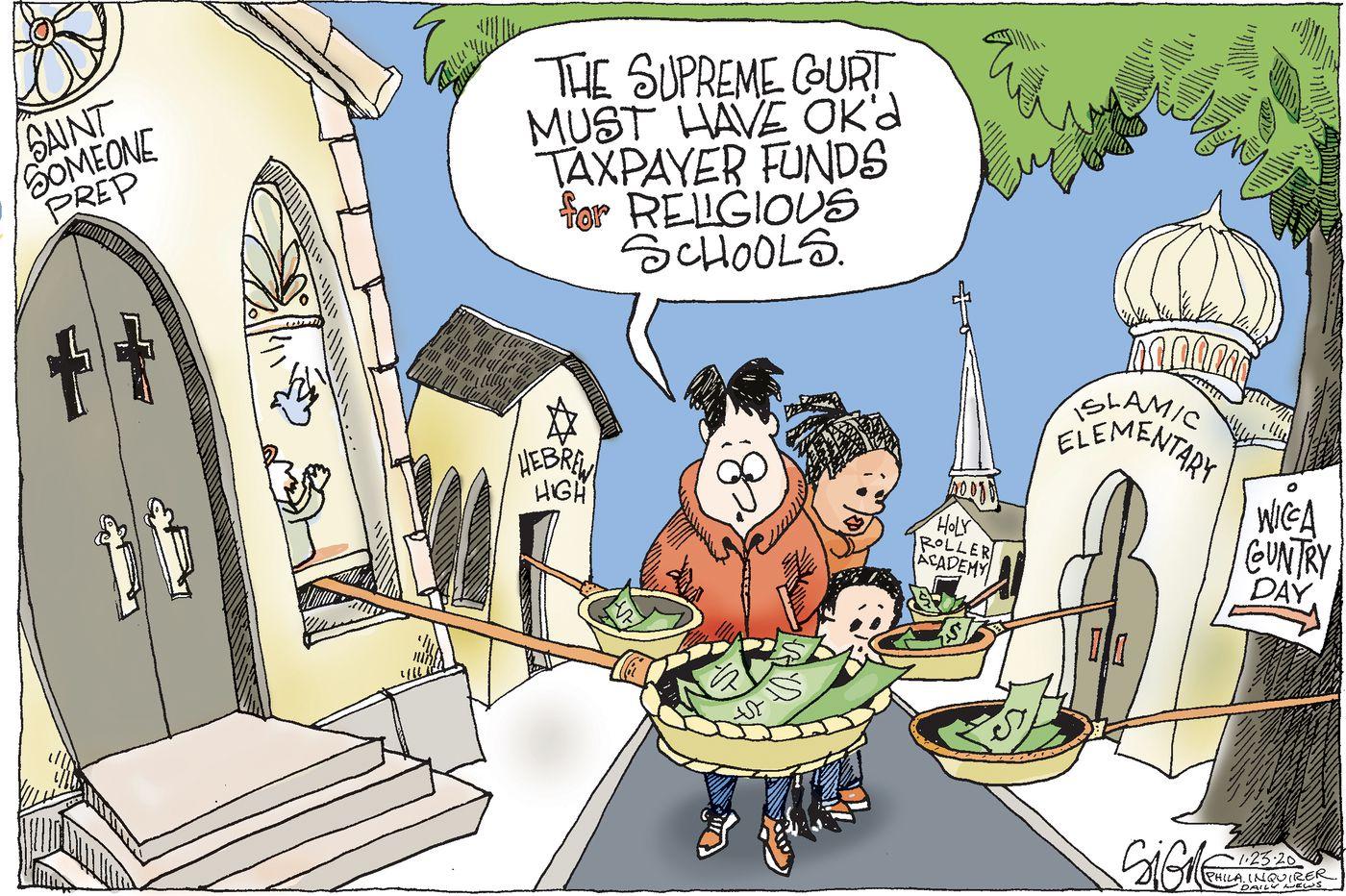 Political Cartoon: Taxpayer money for religious schools