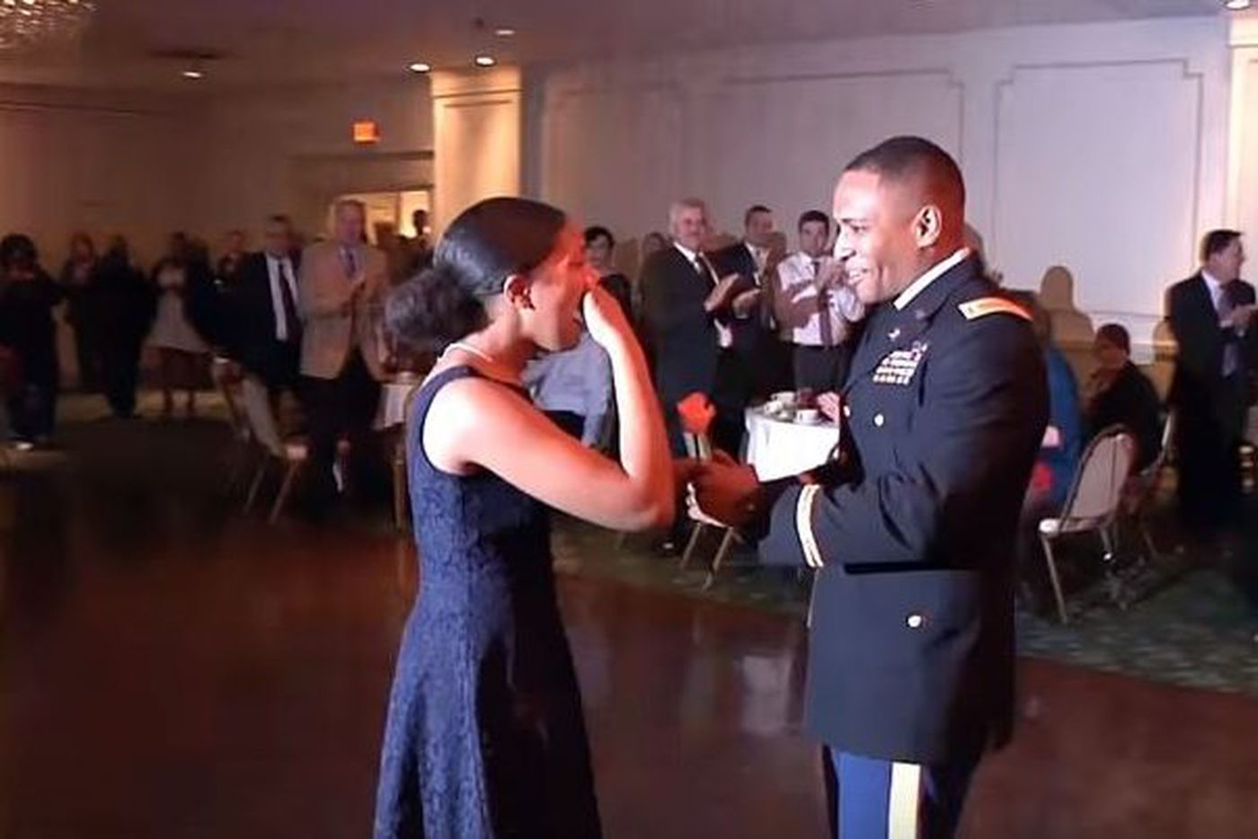 Watch this soldier surprise his daughter at Archbishop Carroll dance