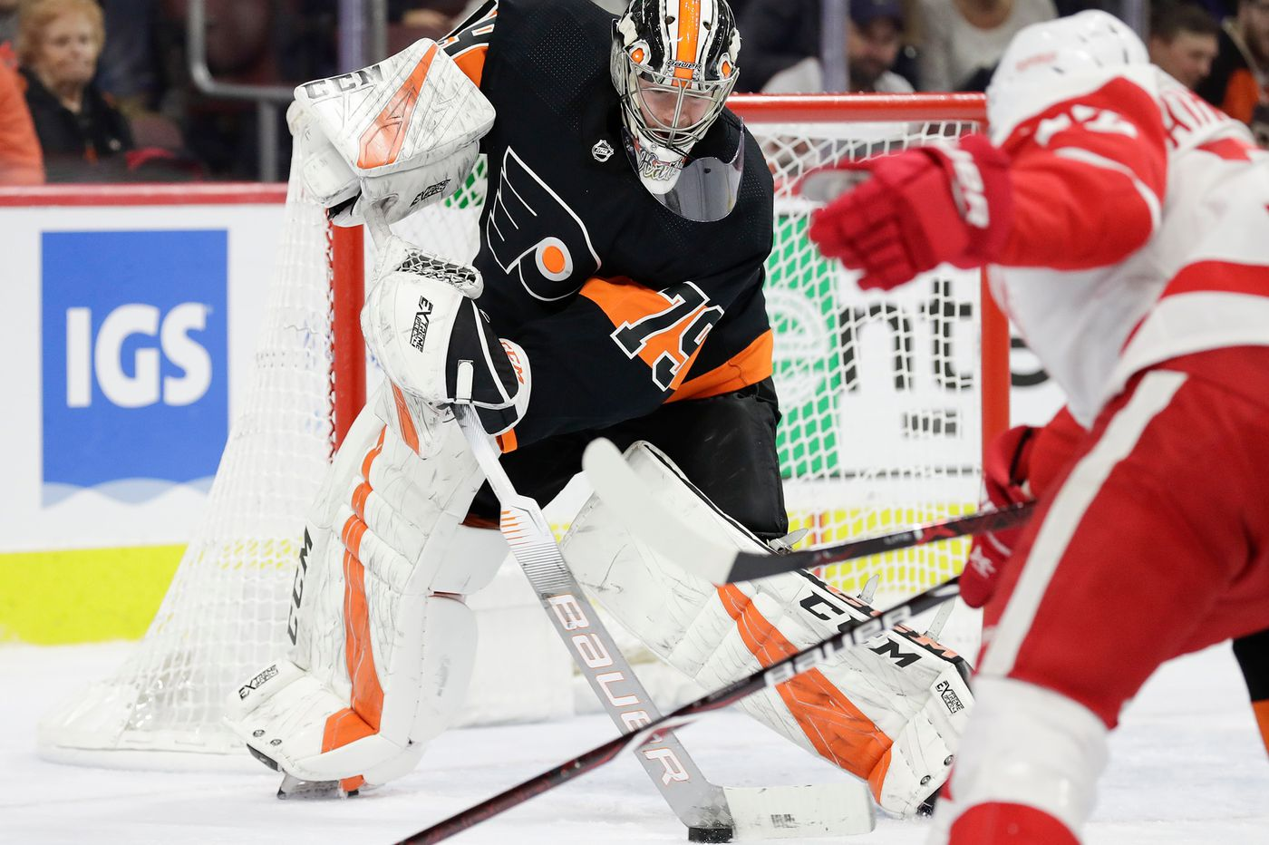 Flyers' Nolan Patrick will be game-time decision vs. Caps; Carter Hart making strides
