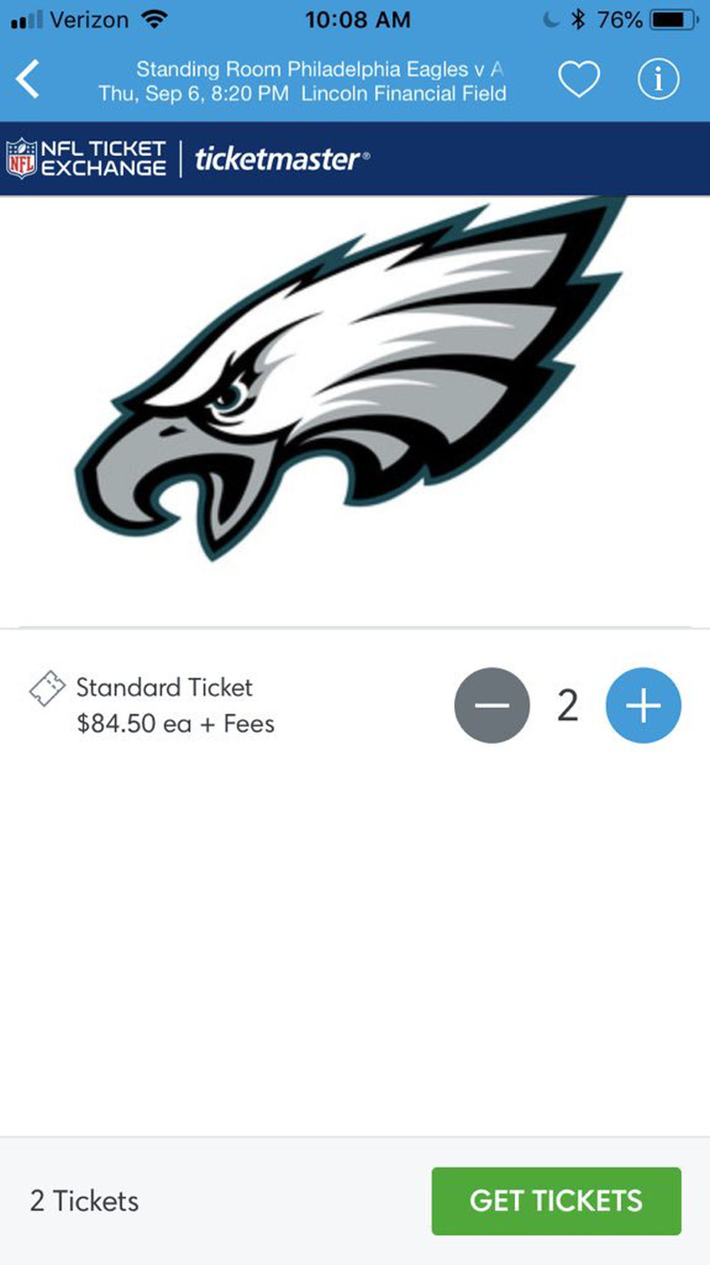 The Option Market For Eagles Superbowl Tickets Is Up 400 In Two Months Seahawks Options Most Expensive Nfc