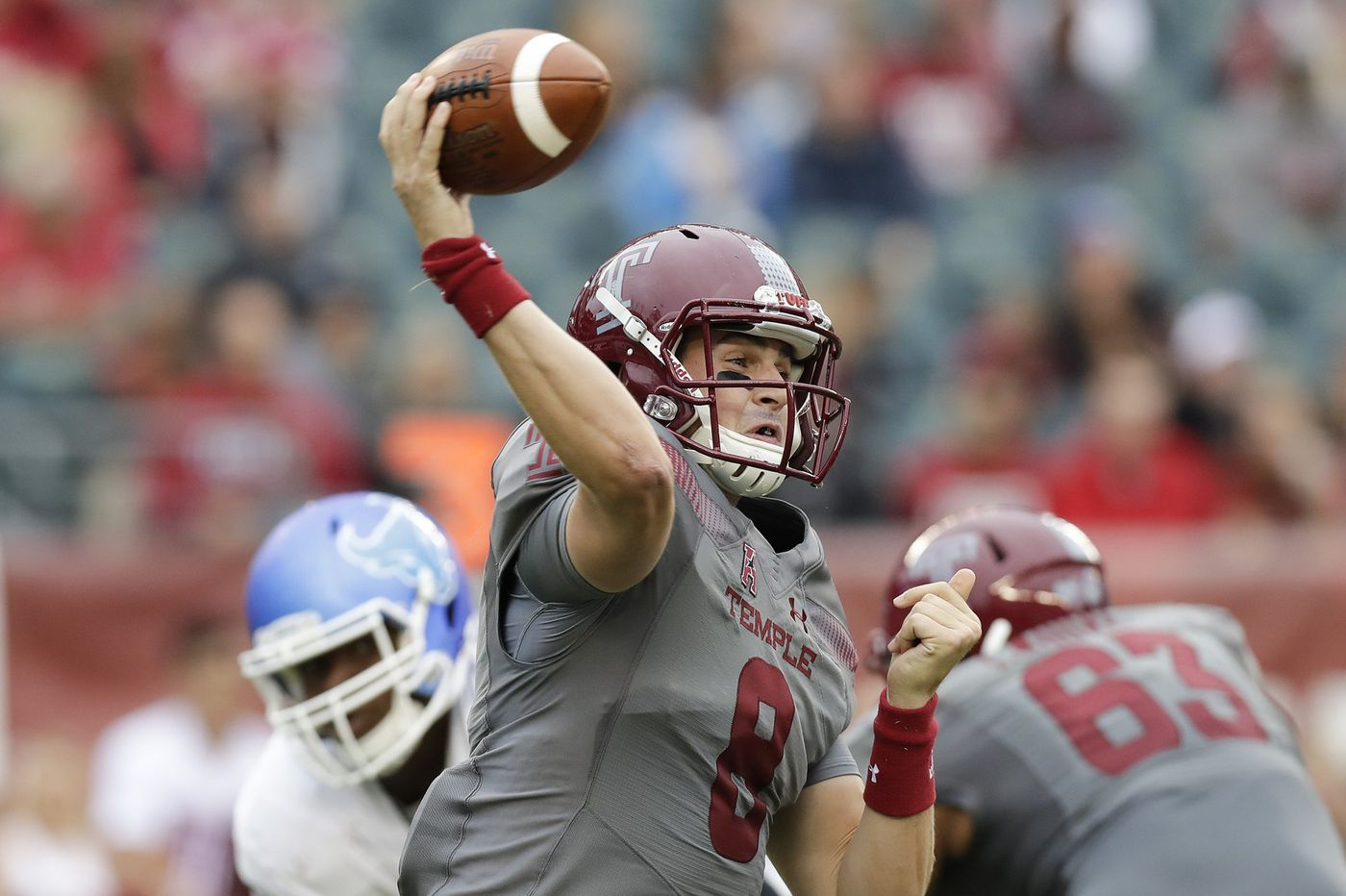 Temple coach Geoff Collins sticking by QB Frank Nutile after winless start