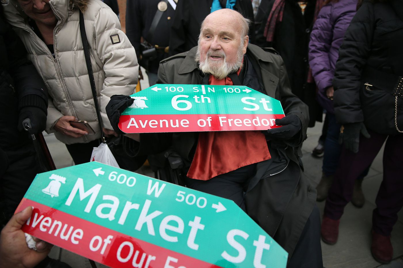 Philly renames parts of Market and Sixth Streets in honor of founding fathers, black history
