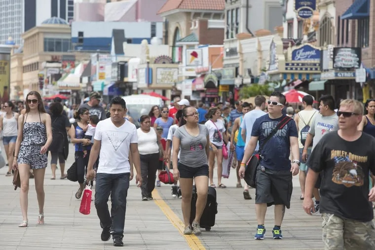 File photo: Saturday July 04, 2015: Here, the packed AC boardwalk. ( ED HILLE / staff photographer )