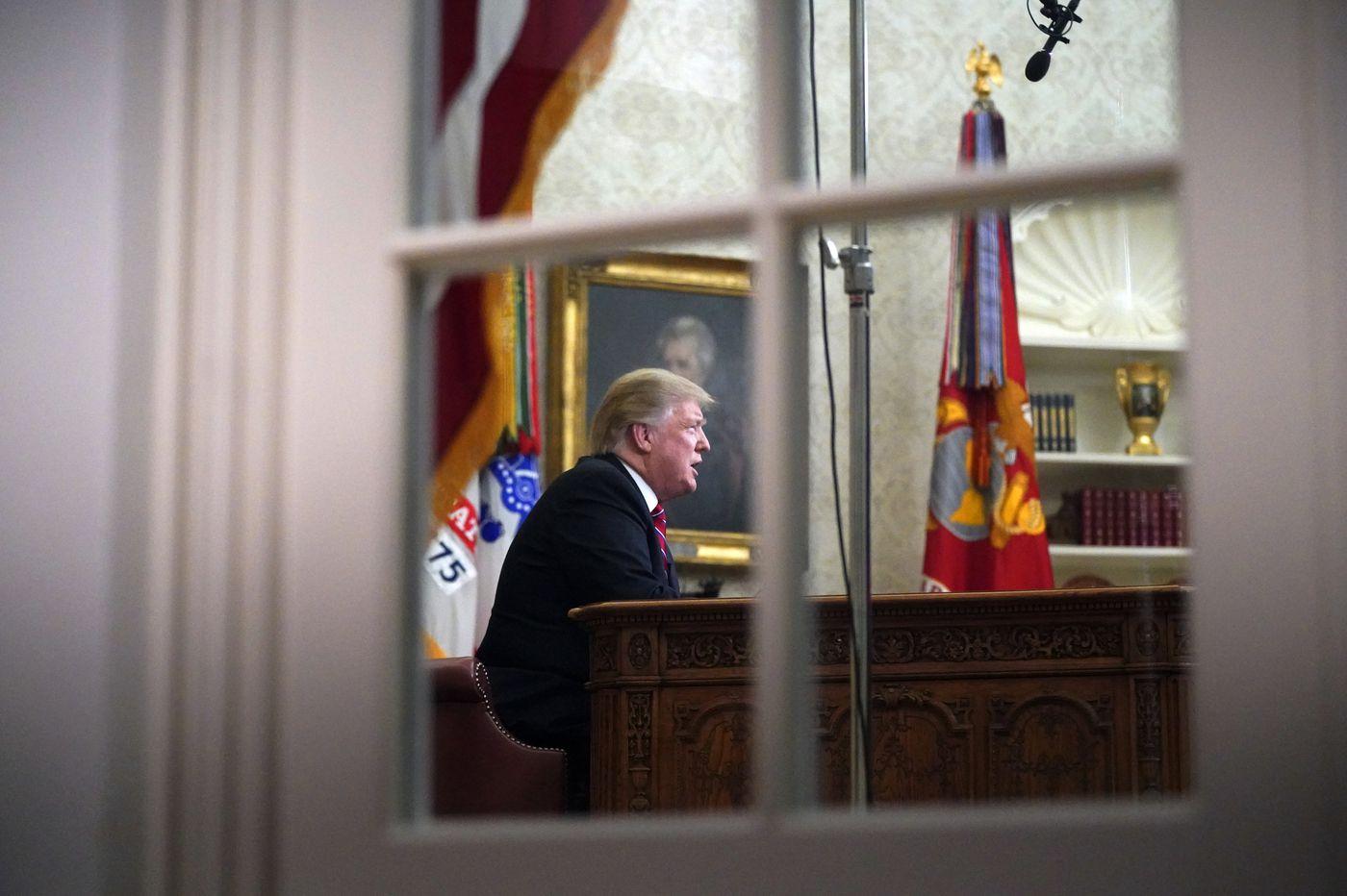 Trump presses for border wall, blames Democrats for government shutdown in prime-time speech