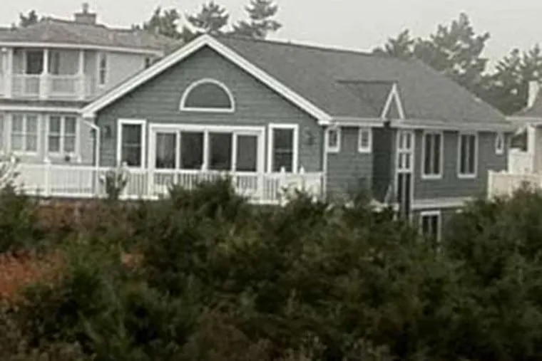 """""""A humble home for a simple man,"""" this getaway in Avalon was bought by Paterno in 1984 for $380,000. It's now worth $3.9 million. (Jason Nark / Staff)"""