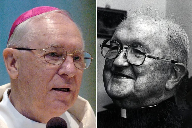 Bishop Joseph Adamec (left) and Bishop James Hogan.