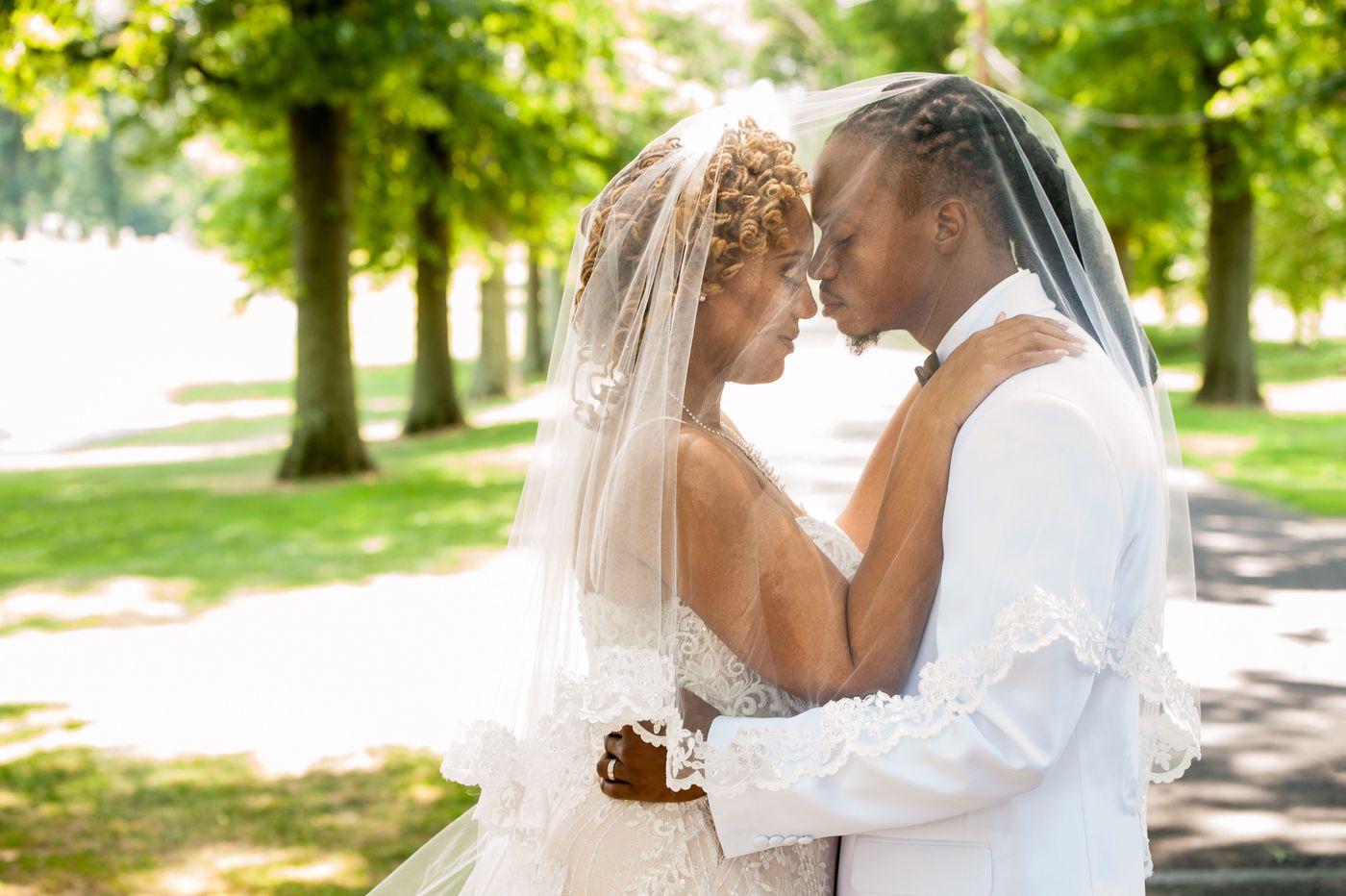 Philadelphia weddings: Tia Burroughs and Spencer Clayton