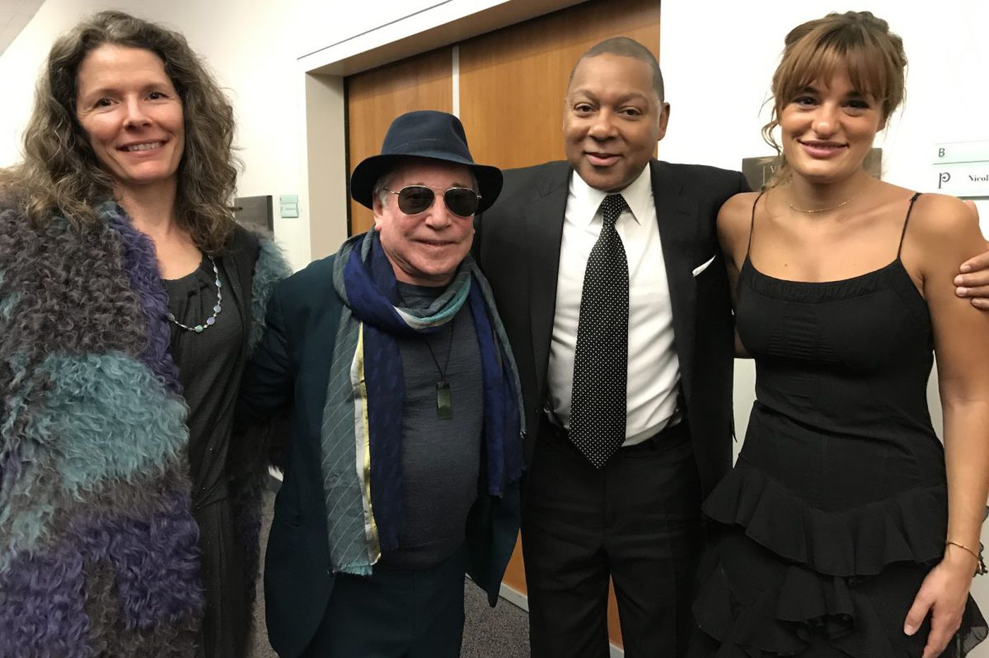 Paul Simon and Edie Brickell drop by Philadelphia Orchestra for Wynton Marsalis