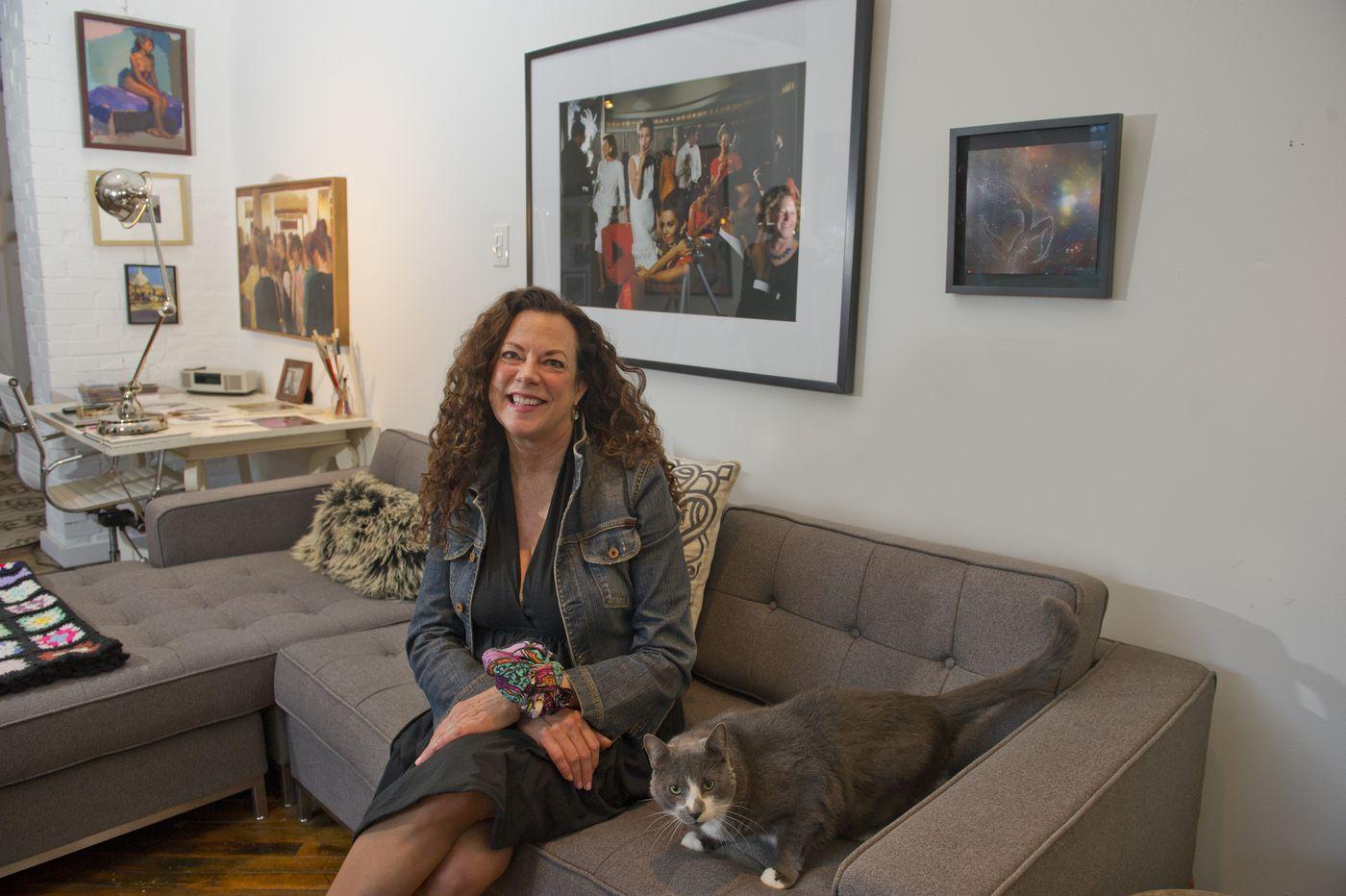 A Kensington loft transformed into a 'comfy art gallery'