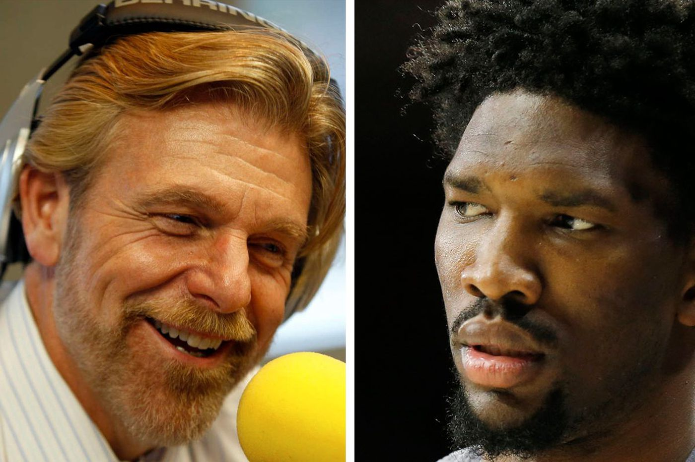 Joel Embiid and Howard Eskin go after one another