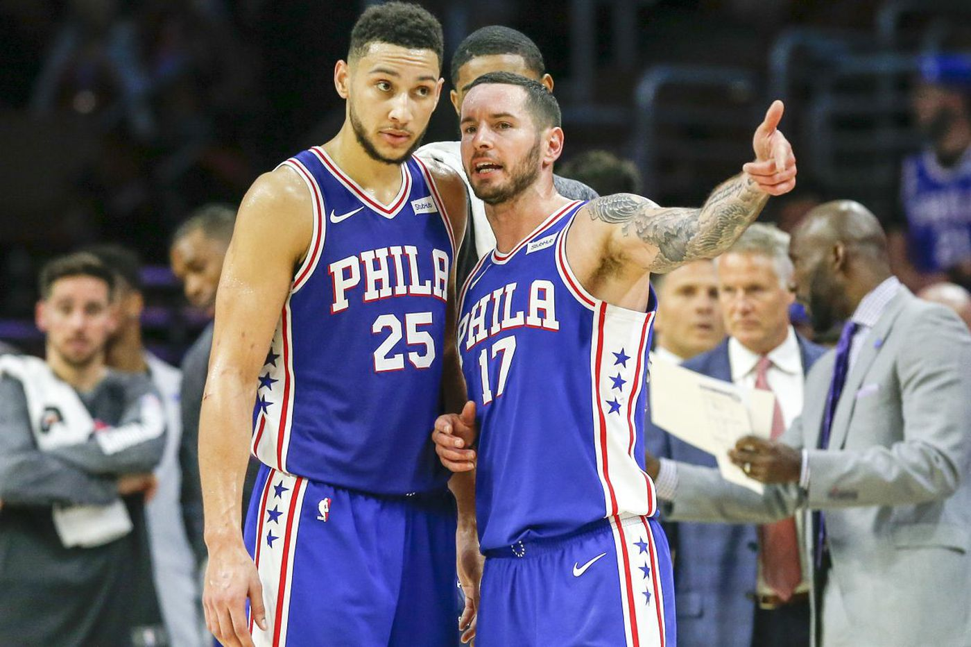 Sixers' JJ Redick weighs in on Ben Simmons' jump shot form, whether he should switch hands