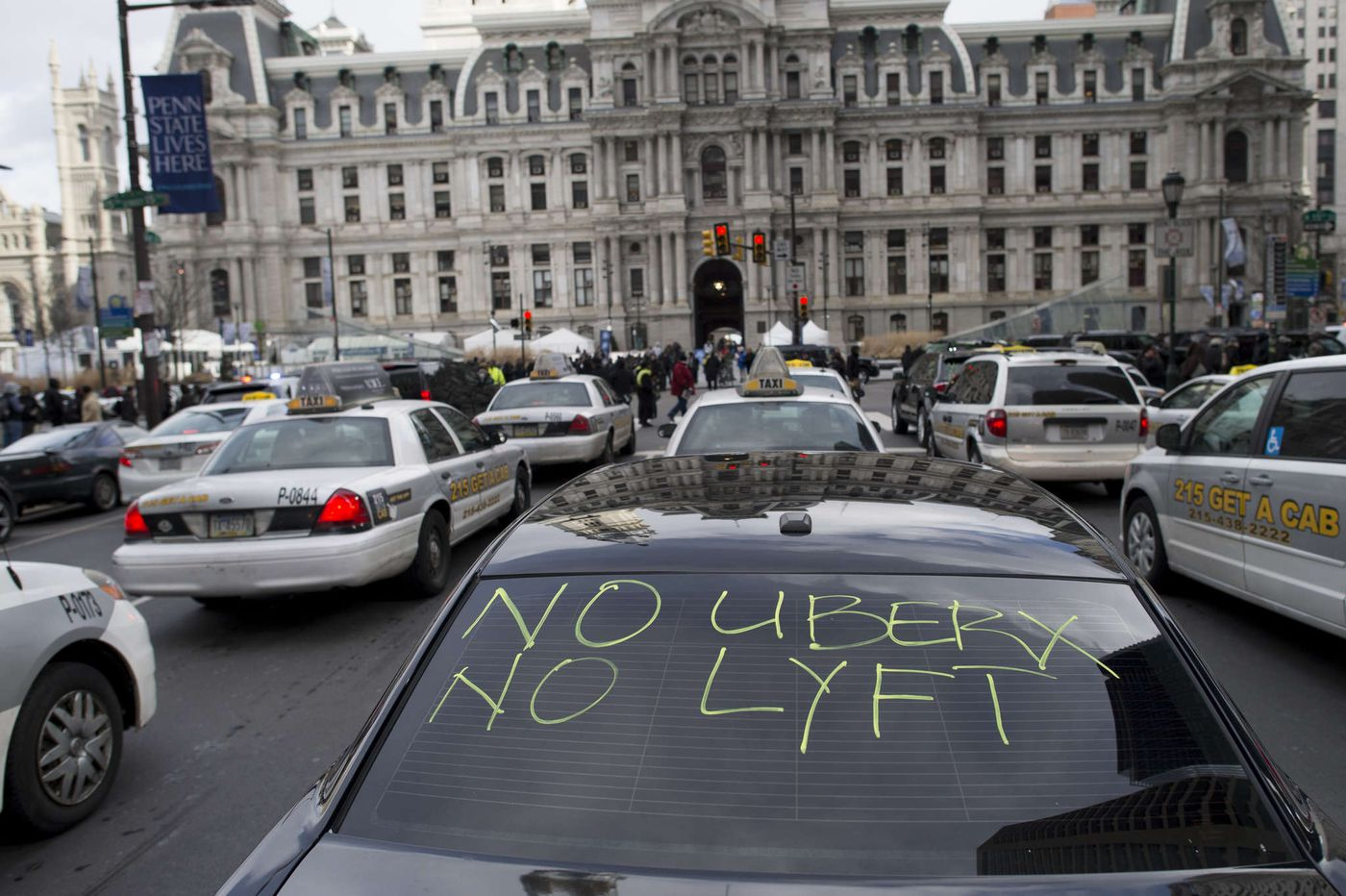 Philly Uber and Lyft drivers will join a global day of action on Wednesday