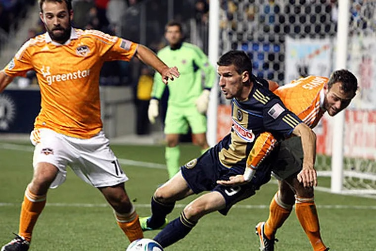 Even a 1-0 win for the Union in Houston would send the series to overtime. (Steven M. Falk/Staff Photographer)
