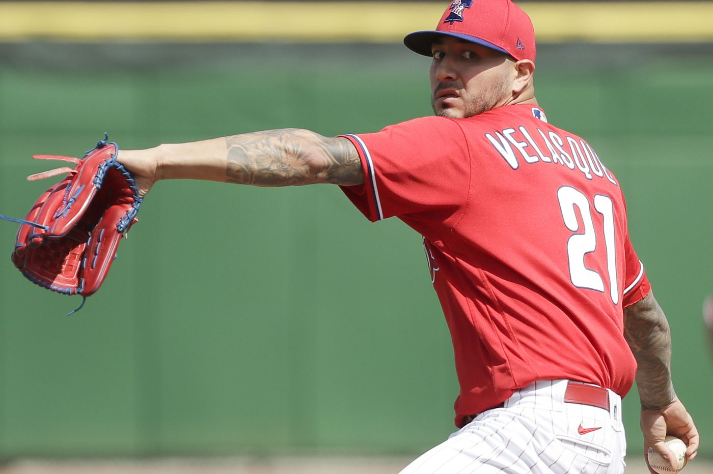 Phillies' Vince Velasquez is keeping it down to be more effective
