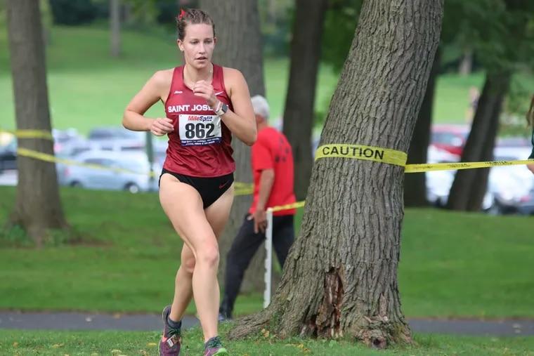 Sarah Myers of St. Joseph's women's cross country. Credit SJU Athletics.