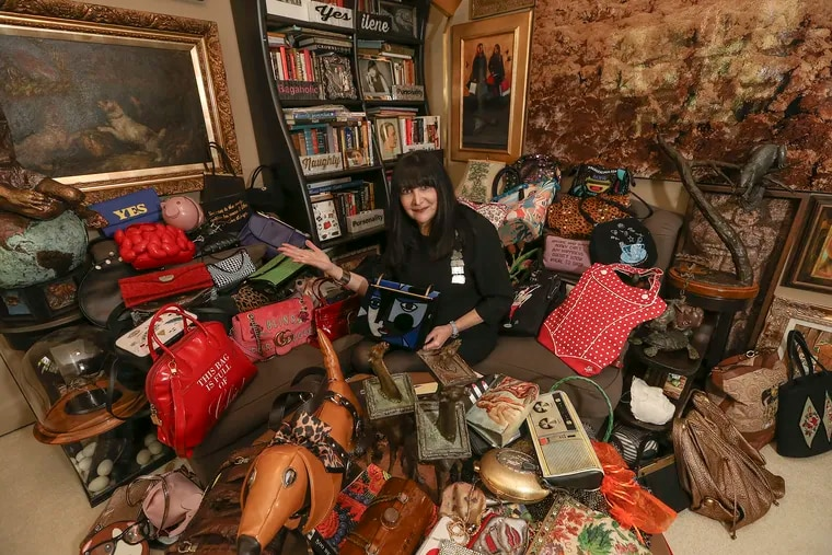 Ilene Wood is a hoarder in the most haute sense. She has a collection of more than 3,000 handbags maybe some 300 in this room.