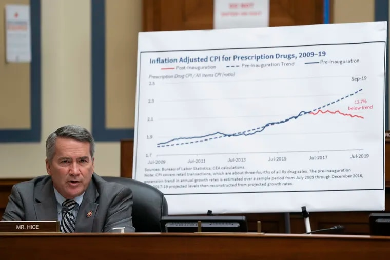 Rep. Tom Rice, R-S.C., speaks during a House Committee on Oversight and Reform hearing on unsustainable drug prices on Capitol Hill, Wednesday, Sept. 30, 2020, in Washington. (Alex Edelman/Pool via AP)