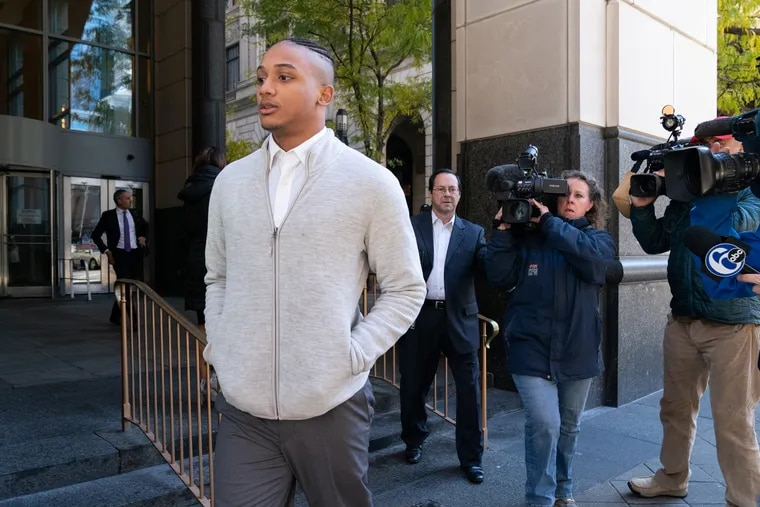 In a file photo, Michael White exits the Stout Center for Criminal Justice after a preliminary hearing Oct. 30, 2018, in the stabbing death of Sean Schellenger.