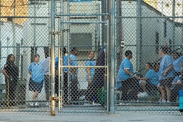 Female inmates at Holmesburg. JESSICA GRIFFIN / Staff Photographer, file