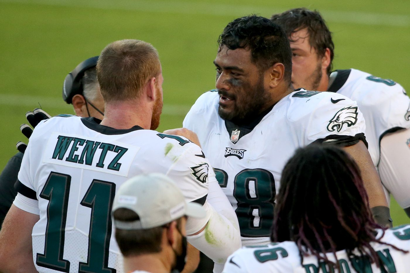 Eagles tackle Jordan Mailata passed his first test but will face a tougher one Sunday against the Steelers and Bud Dupree