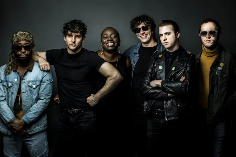 Low Cut Connie, left to right: Larry Scotton, Adam Weiner, Saundra Williams, Lucas Rinz, Will Donnelly and James Everhart. The band played Union Transfer on Thursday night in support of its new album 'Dirty Pictures (part 2).'