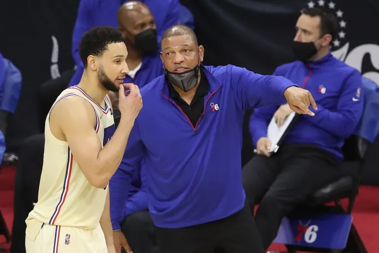 Sixers coach Doc Rivers can relate to a certain extent to Ben Simmons' situation as a holdout.