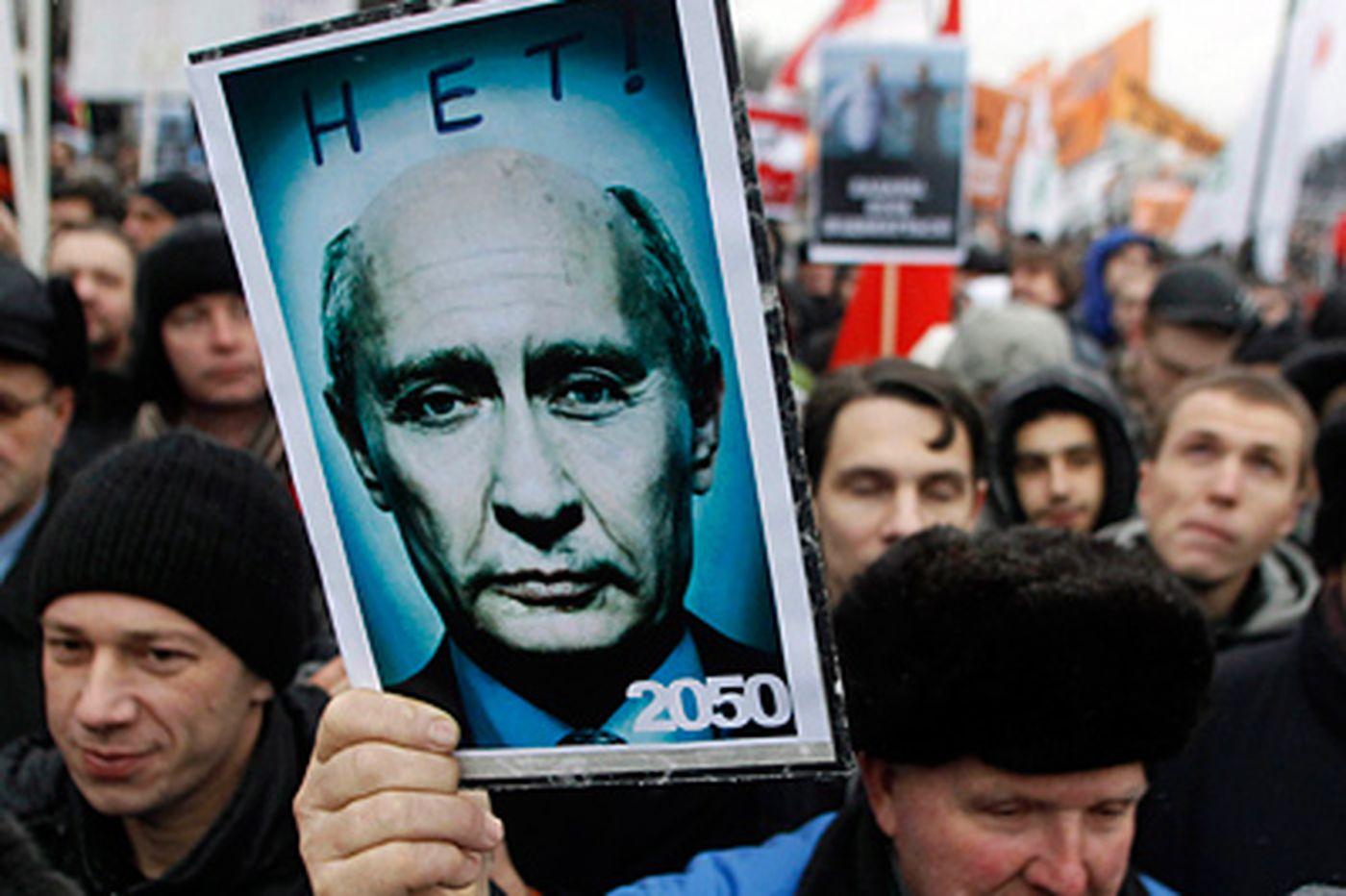 Moscow masses demand Putin go