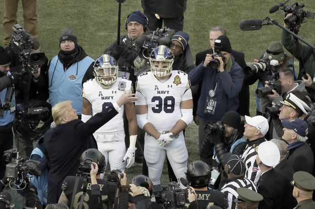 What turmoil? Trump finds Philly welcoming at Army-Navy game, inside and outside stadium