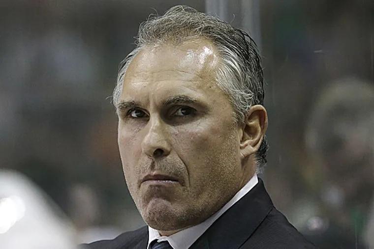 Flyers head coach Craig Berube. (LM Otero/AP)