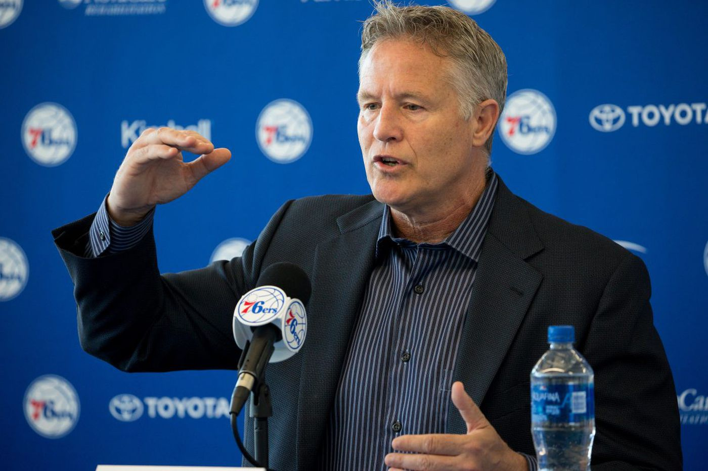 Brett Brown boldly says the Sixers need a high-level free agent to compete for an NBA title