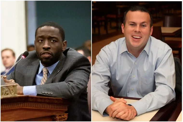 Philadelphia City Councilmember Isaiah Thomas, left, and Pennsylvania State Rep. Kevin Boyle, right.