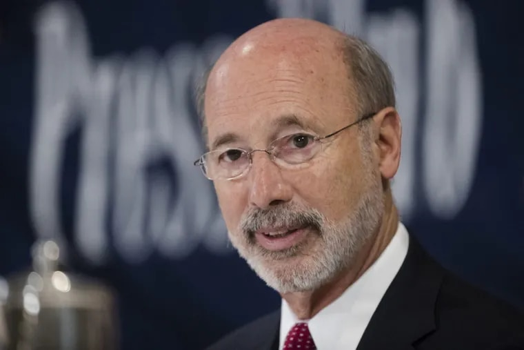 Pennsylvania Gov. Tom Wolf was sued Wednesday by a Montgomery County medical malpractice insurer to block the seizure of $200 million from its surplus, as called for in a law Wolf signed Oct. 30.