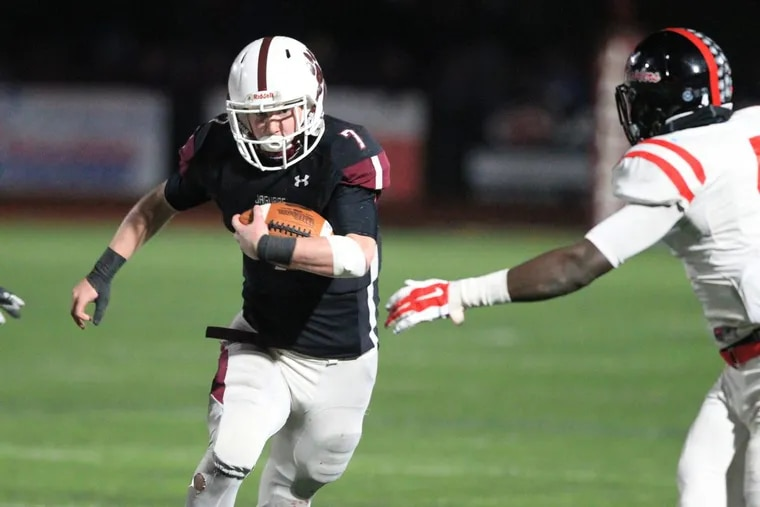 Garnet Valley's Danny Guy (7) runs for a long gain in last Friday's District 1 Class 6A final vs. Coatesville.