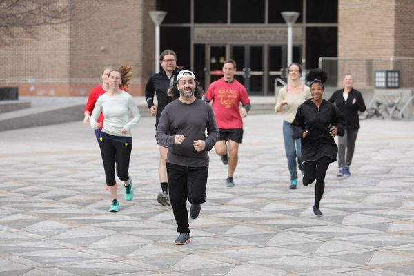 Running club chases down theft suspect in University City