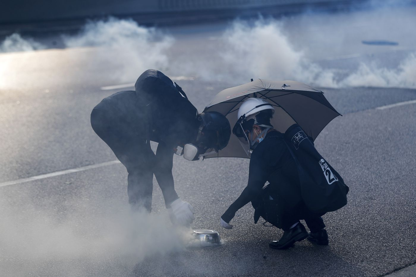 Police in Hong Kong are launching tear gas canisters made in Pennsylvania