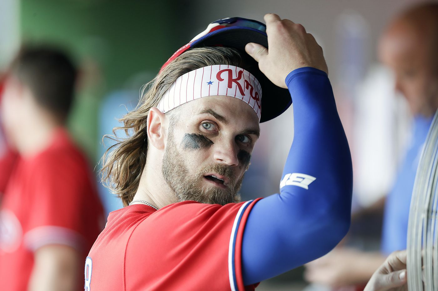 Bryce Harper is going to be on the Phillies for 12 more years, so he keeps tabs on the prospects