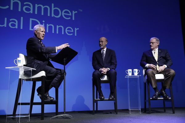 With Alex Trebek moderating, Gov. Wolf and GOP opponent Scott Wagner debate Pa.'s future