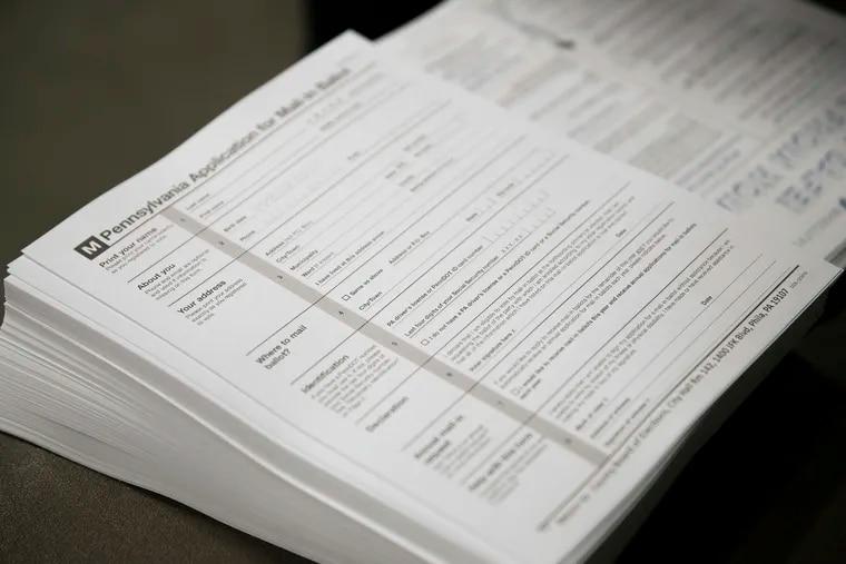 Pennsylvania mail ballot applications in May.