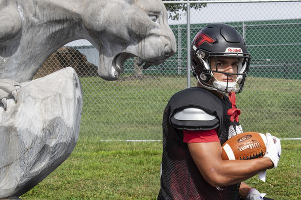 Football standout Tommy Santiago left Archbishop Wood for public school for one important reason: So his brother could stay.