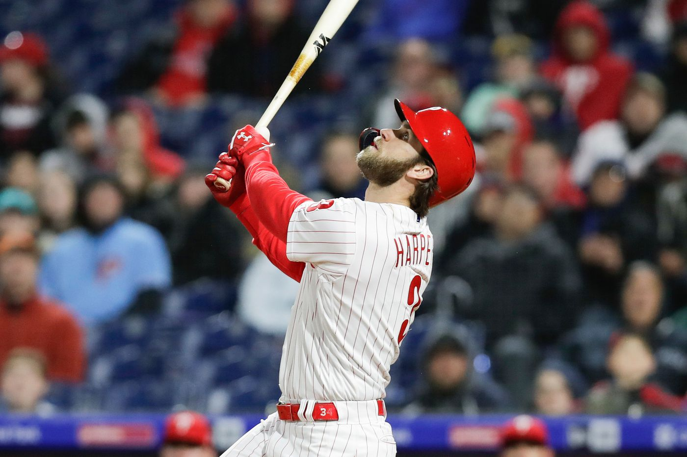 Phillies move Bryce Harper to No. 2 in batting order vs. Brewers to try to snap his funk