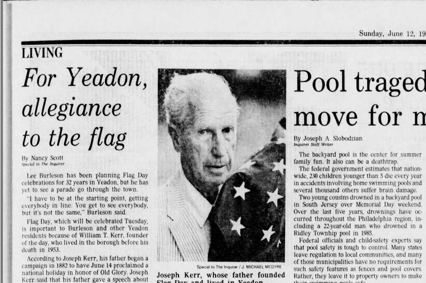 From The Inquirer archives: Yeadon Borough resident was the founder of Flag Day