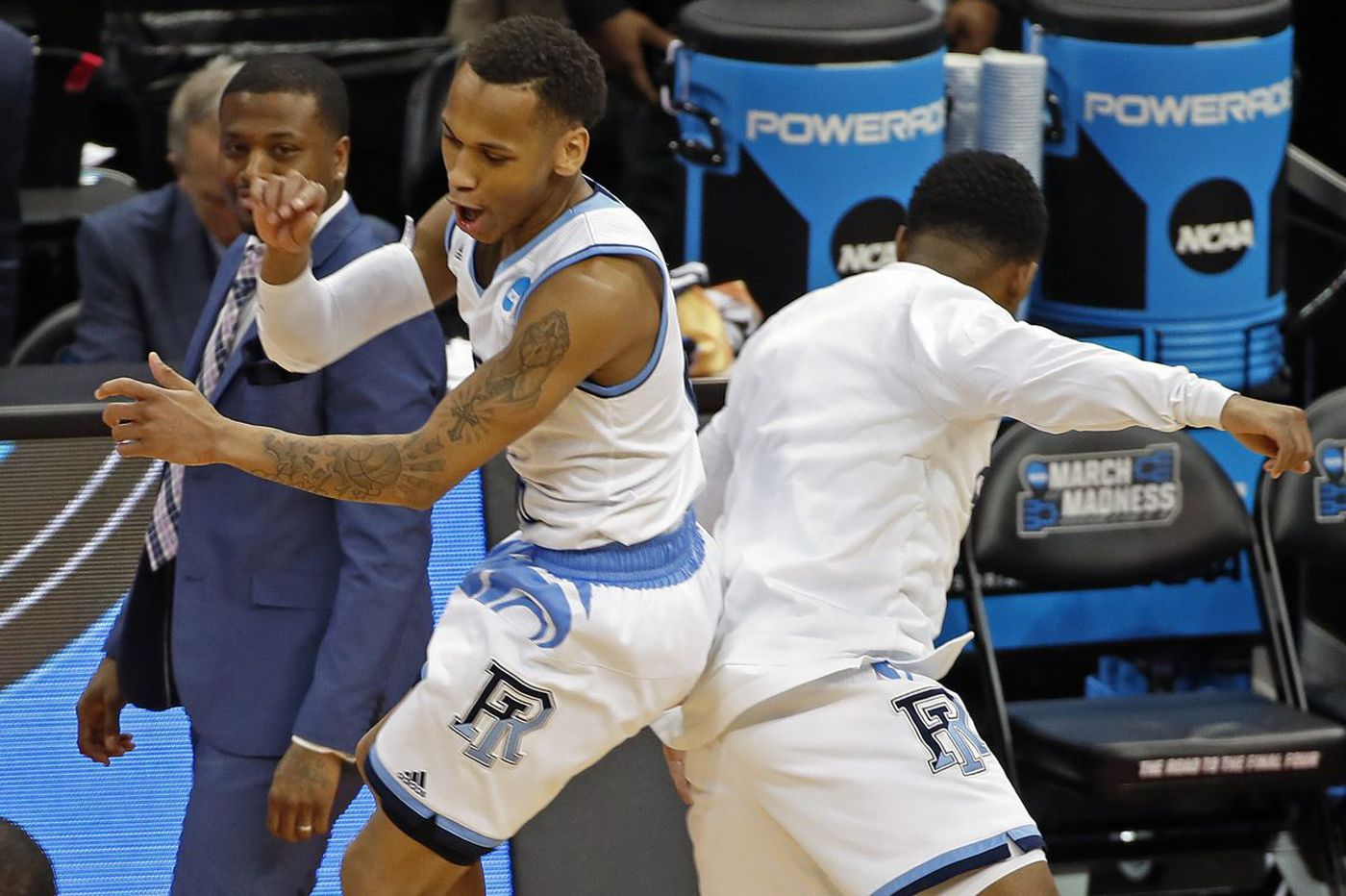 Rhode Island's Fatts Russell, Imhotep Charter product, makes big shots in March Madness win over Trae Young, Oklahoma