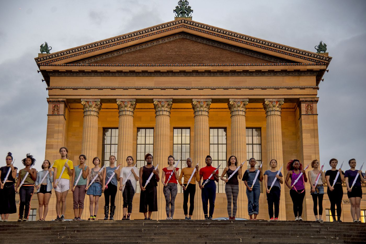 Philadelphia Museum of Art performance will be a funeral for weapons in a city of violence
