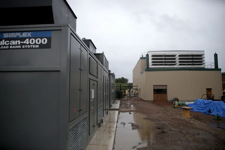 A view of the natural gas power generator under construction at SEPTA's Midvale Depot in Philadelphia, PA on September 18, 2018.