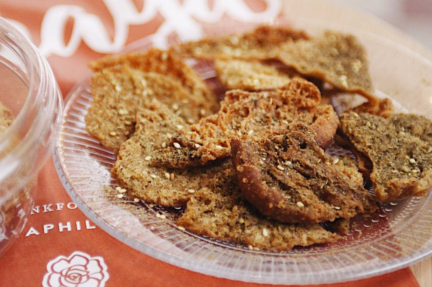 Crunchy pita chips with Middle Eastern spices