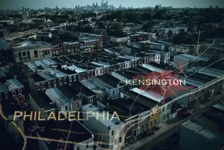 A screenshot from the trailer for Intervention's 20th season, set in Philadelphia.
