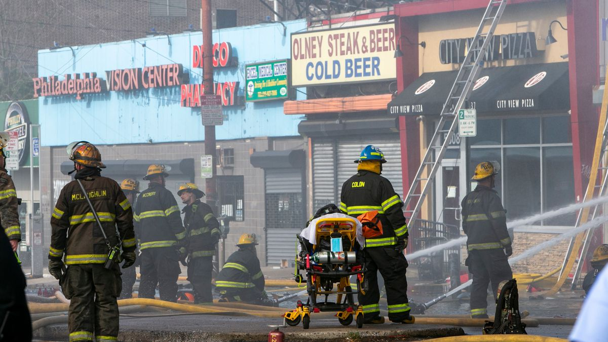 Philly firefighters battle two-alarm fire in North Philly after weekend of looting