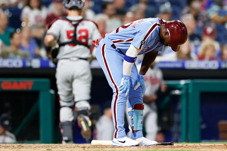 Phillies left fielder Andrew McCutchen went on the 10-day injured list Monday with left knee inflammation.